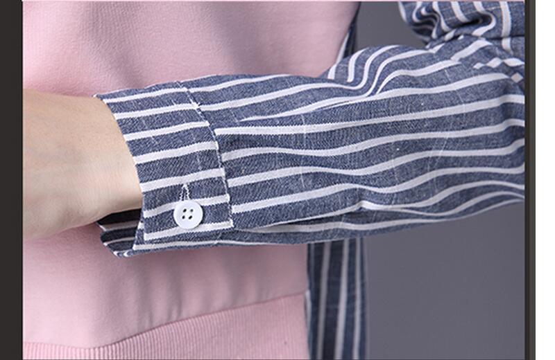 HTB1 sYPQXXXXXahapXXq6xXFXXXs - 2017 Spring Blouses Shirt Female Long Sleeve Casual Striped