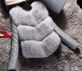 Coats Direct Selling No Faux Leather Full Patchwork Slim 2017 Hot Fashion Jacket Woman Imitation Fox Mosaic Warm Winter Coat