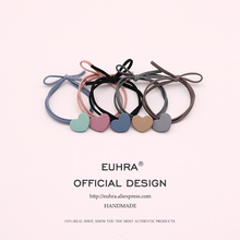 EUHRA 5 Colors Elastic Heart Shape Cassic Simple For Women Hair Band Kid Children Rubber High Elasticity