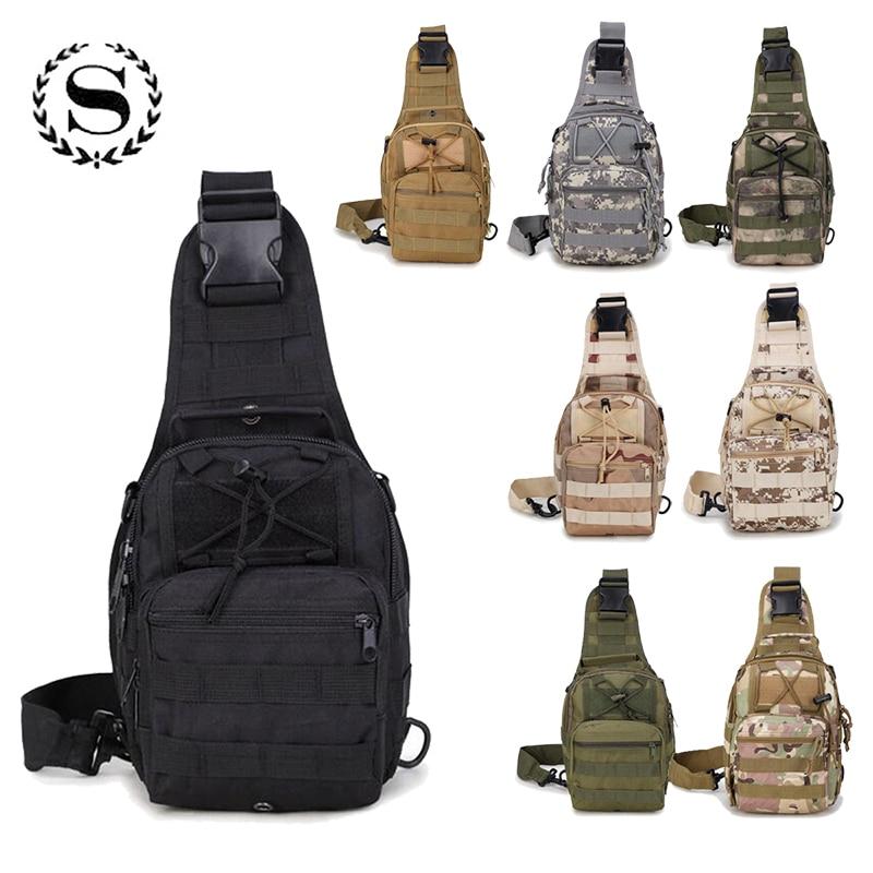 Fashion Men Nylon Waterproof Military Travel Duffel Backpack Camouflage Chest One Shoulder Bag Trekking Jungle Bags ZZ482