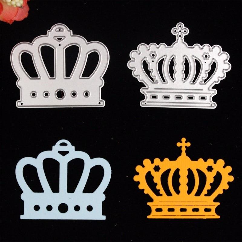 2pc Crown Metal Cutting Dies Stencils for DIY Scrapbooking/photo album Decorative Embossing DIY Paper Cards