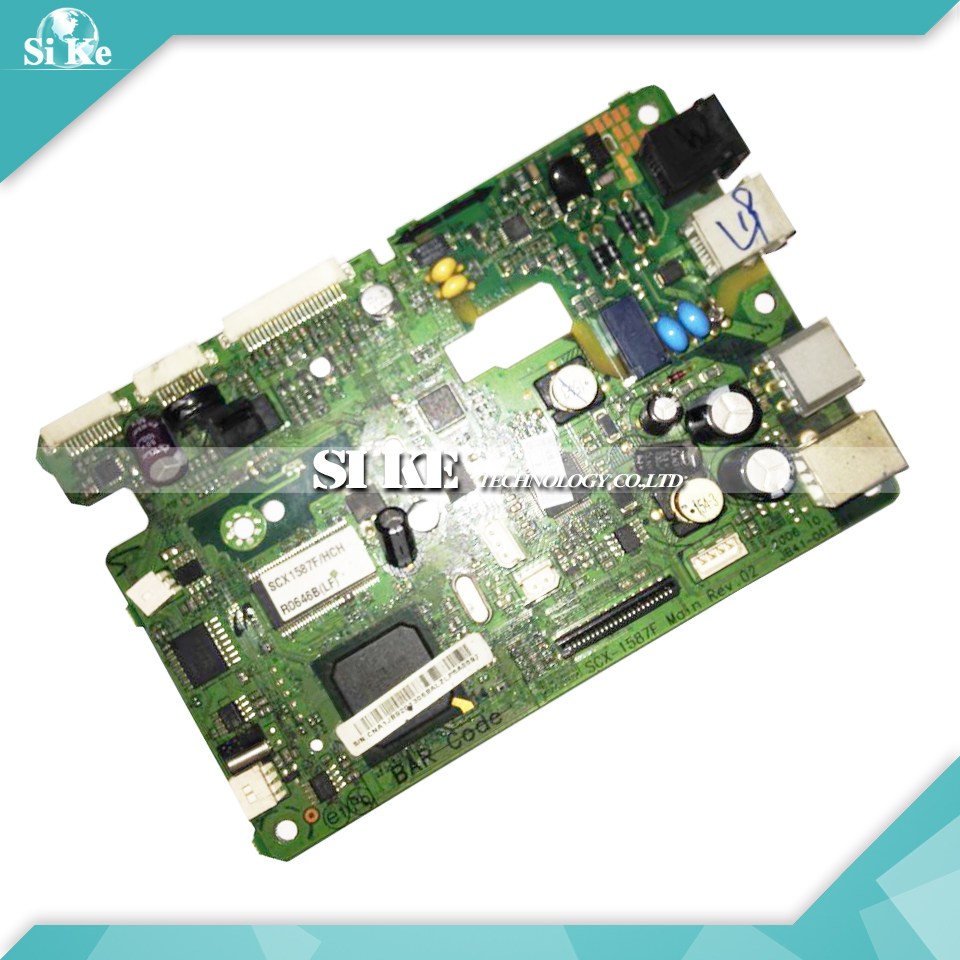 Laser Printer Main Board For Samsung SCX-1587F SCX1587F SCX 1587 1587F Formatter Board Mainboard Logic Board laser printer main board for samsung scx 4835fr scx 4835 4835fd 4835fr scx4835fr formatter board mainboard logic board