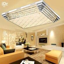 СВЕТОДИОДНЫЕ потолочные светильники прямоугольные гостиная ламп кристалл лампы высокое качество красочный обесцвечивание зал L800xW600mm