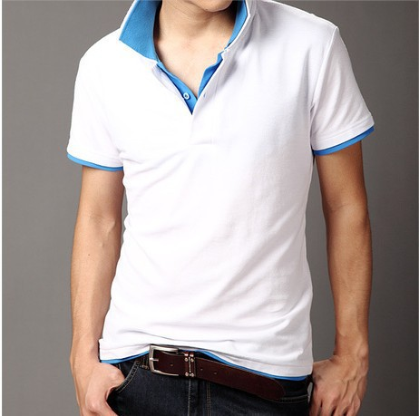Promotion fast shipping double collar mens brand t shirts for Fast delivery custom t shirts