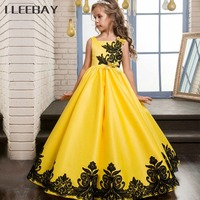 High Quality Kids Girls Princess Dress Lace Rose Party Gown Wedding Teenager Flower Girl Evening Dress