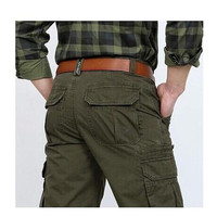Mens Pants Cotton Casual Military Mens Cargo Pants With Many Pockets Army Khaki Plus Size 30 44 Mens Pants 2019