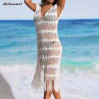 Women Cover Up Chiffon Swimming Suit Beach Suit Wear Outerwear Summer Bathing Cover Ups Long Dress