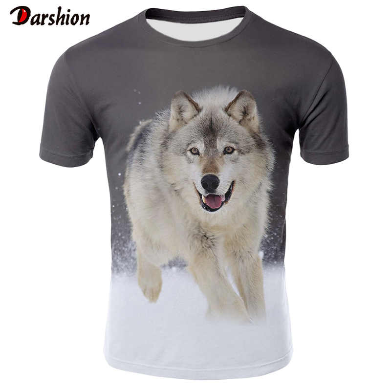 Wolf 3D Print Cool T-shirt Men Women Fashion Eagle 3d Hip Hop Tshirt Print  Animal Short Sleeve Summer Top Tees T shirt Male 4XL