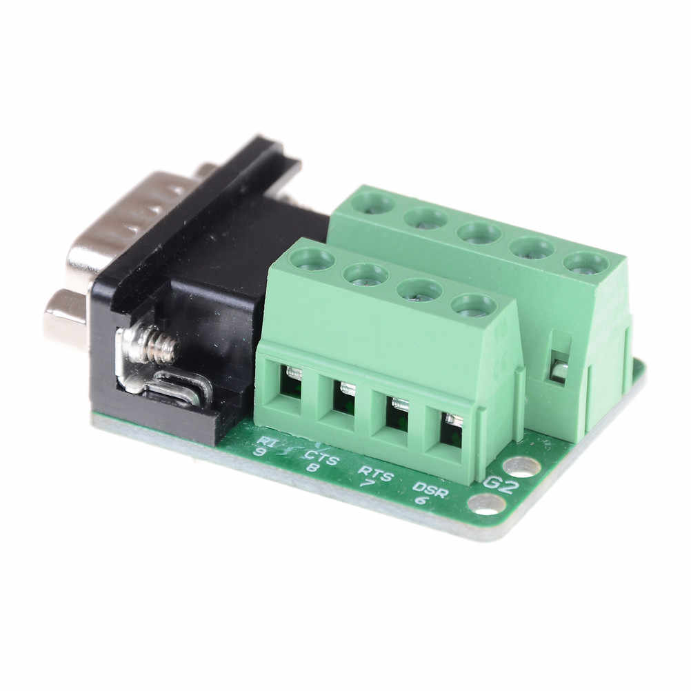 Terminal Module RS232 RS485 Adapter Signals Interface Converter Male COM D sub 9Pin DB9 connector