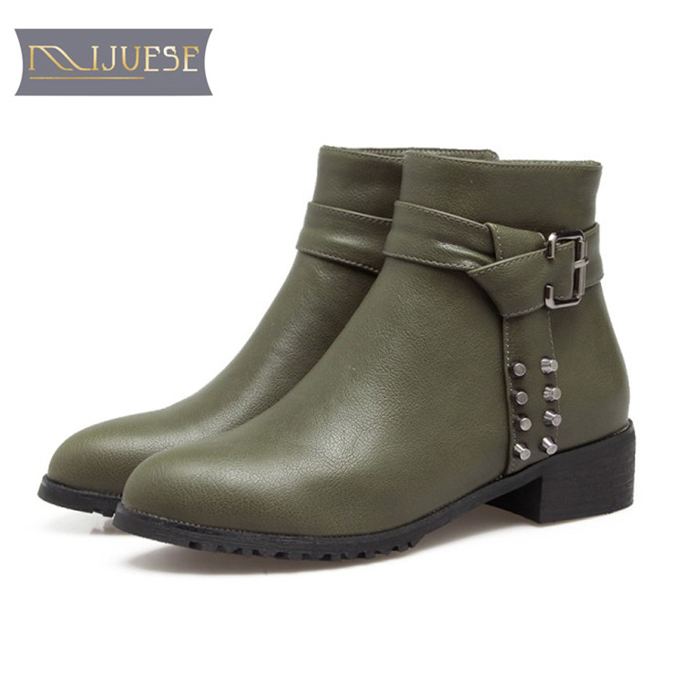 MLJUESE 2018 women boots zippers mixed colors short plush round toe high heels winter boots size 34-43 riding boots