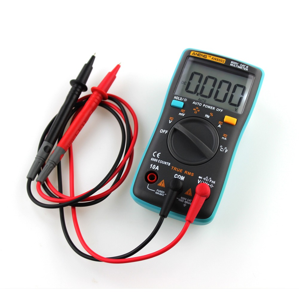 New 1 Pcs ANENG AN8002 Handheld Digital Multimeter 6000 Counts Backlight AC/DC Ammeter Voltmeter Meter купить недорого в Москве