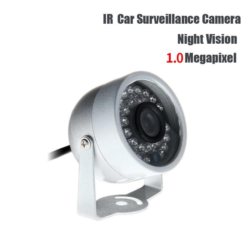 AHD 1.0MP Mini 1/3 Logam Kamera IR Malam Visi Indoor Tahan Air untuk Mobil Truk Sekolah Bus Van Ponsel DVR Surveillance