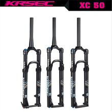 лучшая цена Bike Air Fork 26 bicycle fork 27.5 29 inch Suspension Straight Tapered Tube QR 100*9MM Thru 100*15MM MTB Bicycle Bike Fork