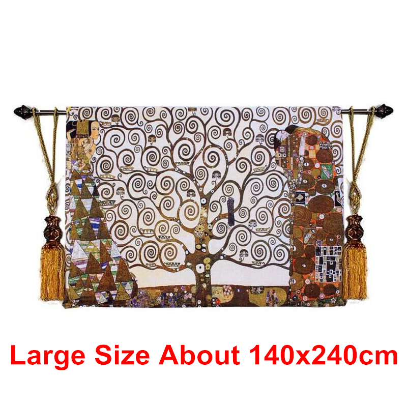 Us 152 0 20 Off 140x240cm Large Size Cotton Tree Of Life Wall Tapestry Art Hanging Tapestries Goblen Gobelin Moroccan Meval Taerie In
