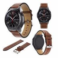 1 шт. сменные часы из натуральной кожи ремешок браслет для samsung gear S3 классические Frontier наружные спортивные нарукавные повязки