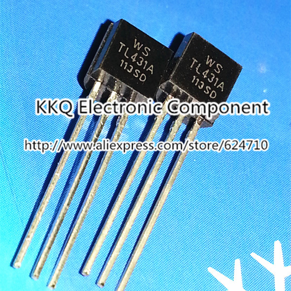 100PCS TL431 TL431A TO-92 100mA 0.1A Silicon Transistors triode transistor TO-92-3