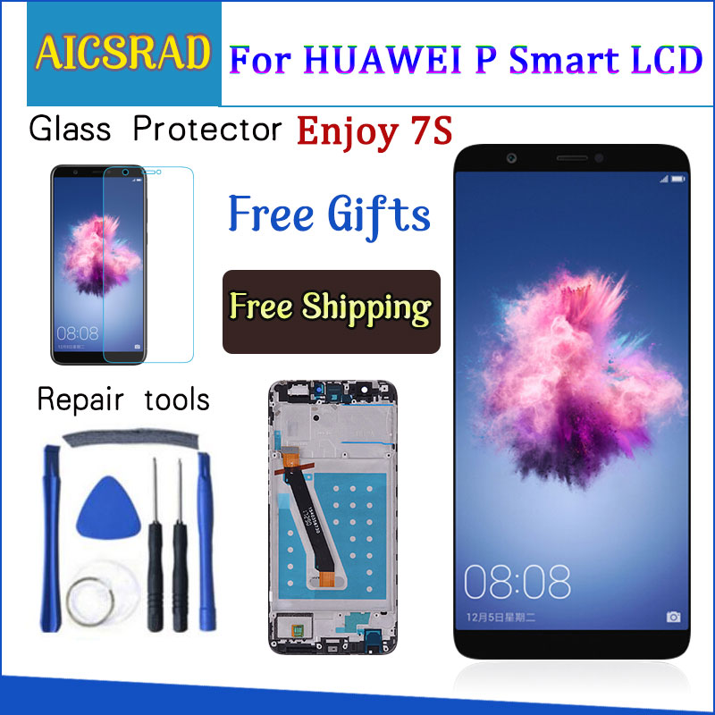 For Huawei P Smart LCD Touch Screen With Frame For Huawei P Smart Display Replacement For Huawei P Smart LCD FIG LX1 LX3