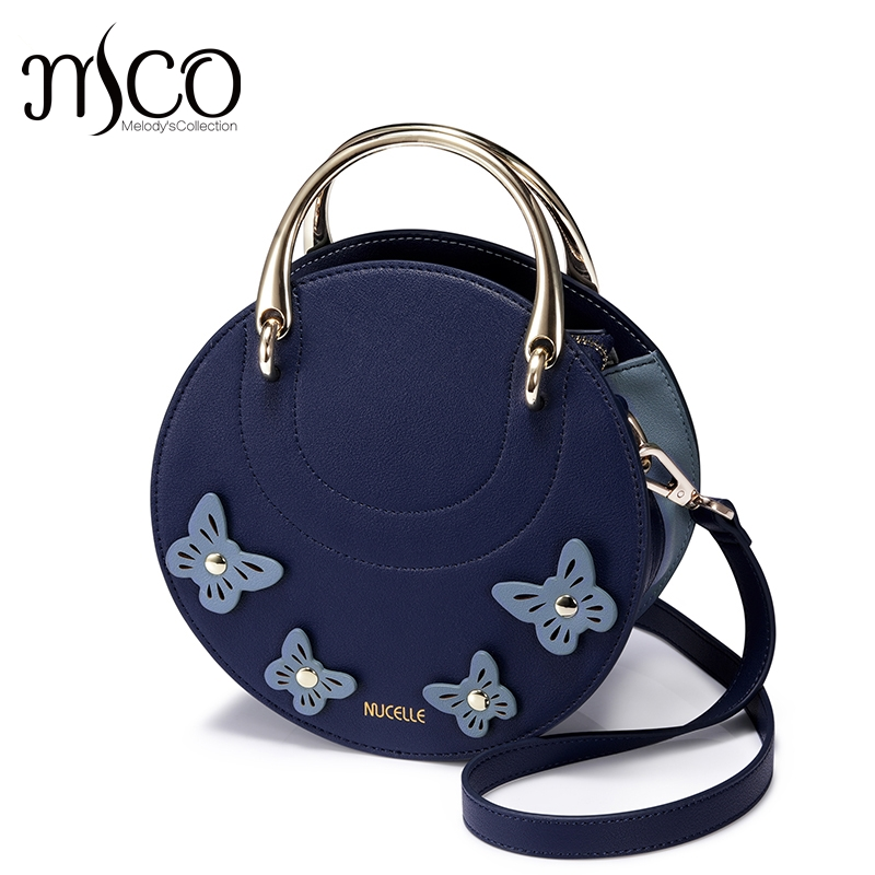 2017 Women Shoulder Bags Crossbody Bag For Women Handbag PU Leather Full Moon Candy Color butterfly bolsa feminina Round bags candy color pu leather women bag day clutches patchwork handbag bolsa feminina new design ladies wristlets bags