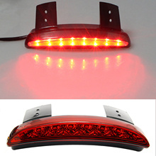 Chopper Fender Edge LED Tail Light For Harley Red Shell Iron Sportster XL883 1200 Smoke Bright High Quality Motorcycle Taillight(China)