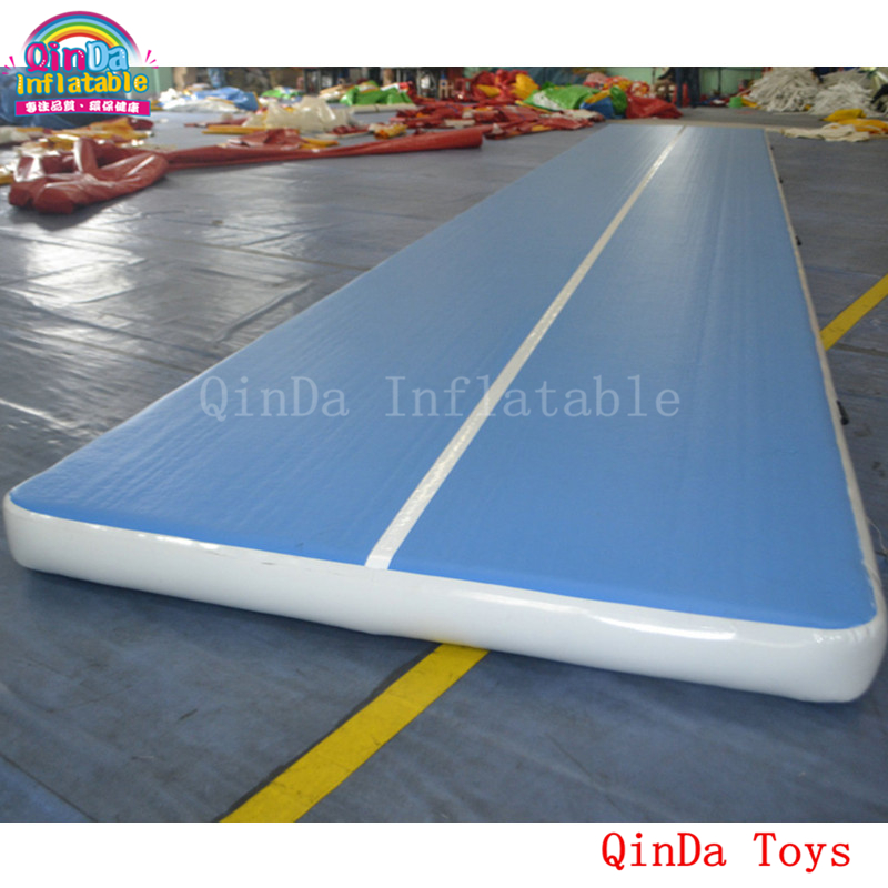 Fitness equipment 10m long inflatable air tumble track,1.0mm DWF blue inflatable air track mat for gymnastics free shipping 10 2m inflatable air track inflatable air track inflatable gym mat trampoline inflatable gym mat