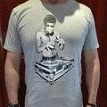 ¡ Caliente! verano Impresión DJ Bruce Lee hombres Camiseta de La Moda 2016 Nueva Llegada Del O-cuello de Caracteres de Los Hombres Camisetas 95% Algodón Camiseta