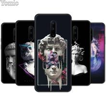 Silicone Cover Shell for Oneplus 7 7 Pro 6 6T 5T Black Case for Oneplus 7 7Pro Soft Phone Case David Statue illustration