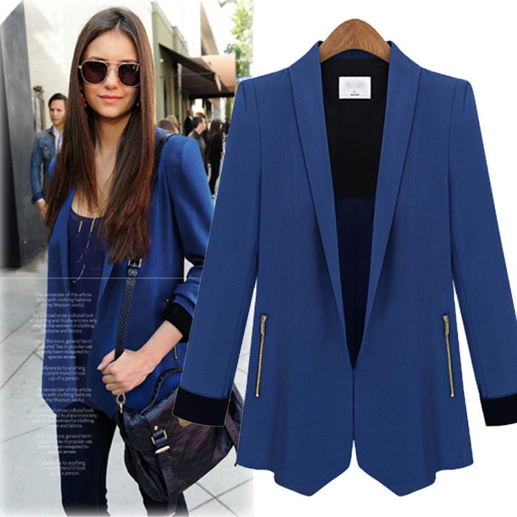 2015 New Spring Jacket Autumn Coat women blazer casual and ...
