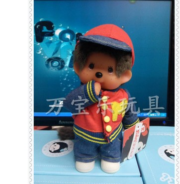 Free Shipping hight quality fashion Monchichi 20CM wedding plush toy doll Valentine's day gift wedding decoration 1pcs стоимость