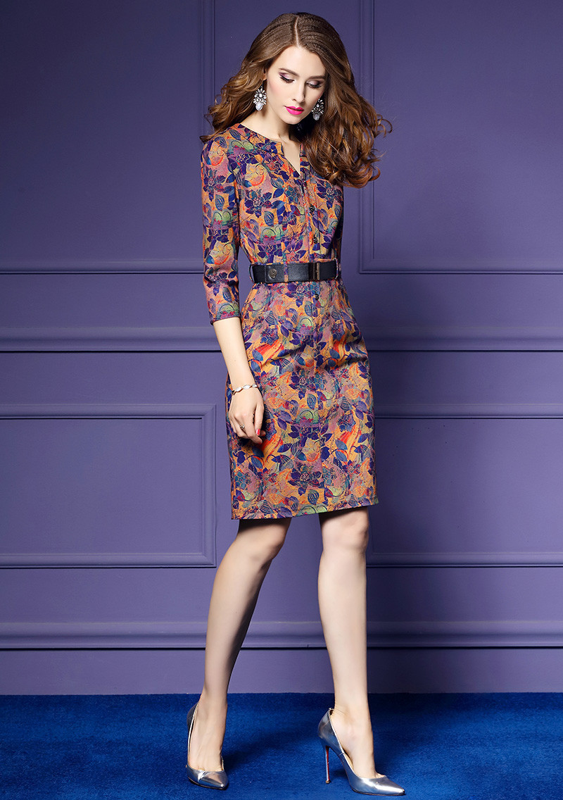f49513cc73 Lguc. H Trendy Luksusowe Społecznej Sukienka Midi Vintage Biuro ...