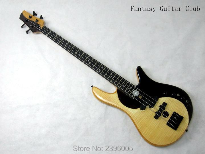Boutique sur mesure exclusif Fodera classique guitare basse yin-yang 4 cordes papillon guitare basse fait à la main guitare basse vraies photos