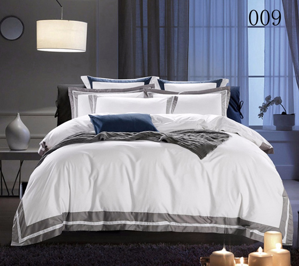 Full Queen King Cotton 4pcs Bedding Set Home Hotel Bedclothes Quilt Cover Duvet Cover Pillowcase Flat Bed Sheet Or Fitted Sheet