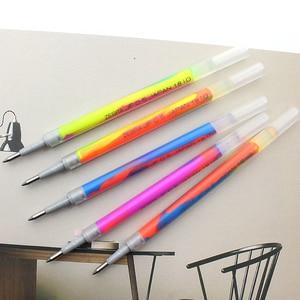 Image 3 - JIANWU 5pcs/set Japan Zebra three color Rainbow gel pen JJ75 Color marker pen 0.5mm journal mixed color Student