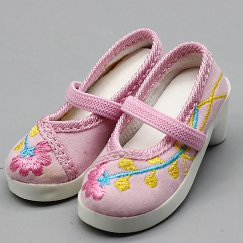 Handmade 7.8cm Heels Dolls Shoes For Sandals Fit 60cm SD Dolls Children Christmas Gift  For 16inch 1/3 BJD Shoes