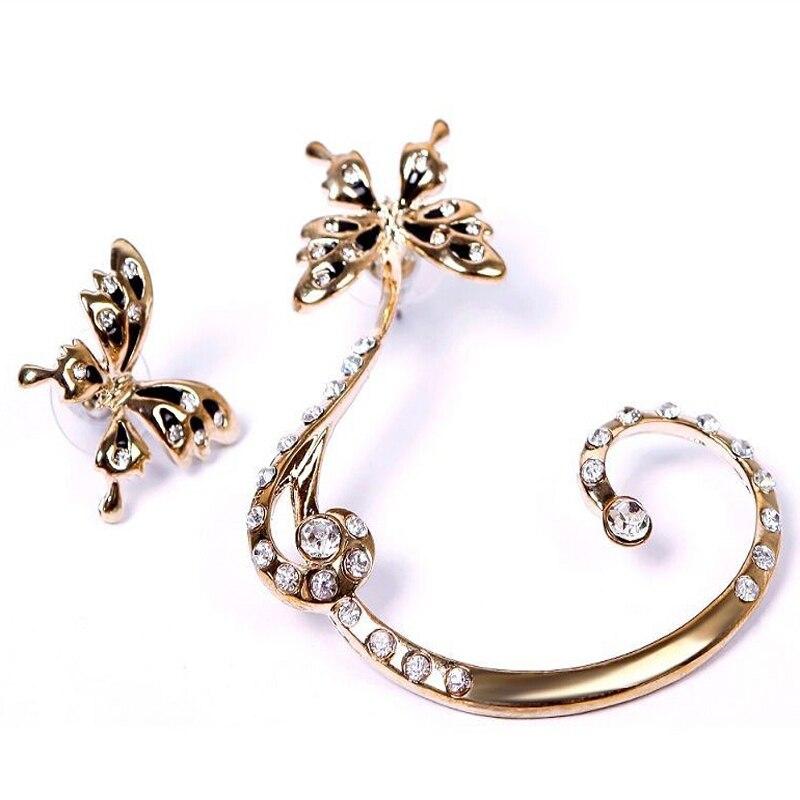 aliexpress buy 1 pair rhinestone butterfly clip earring
