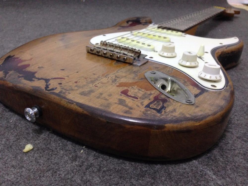 Rory Gallagher Signature ST Relic guitare électrique 100% à la main corps En Aulne