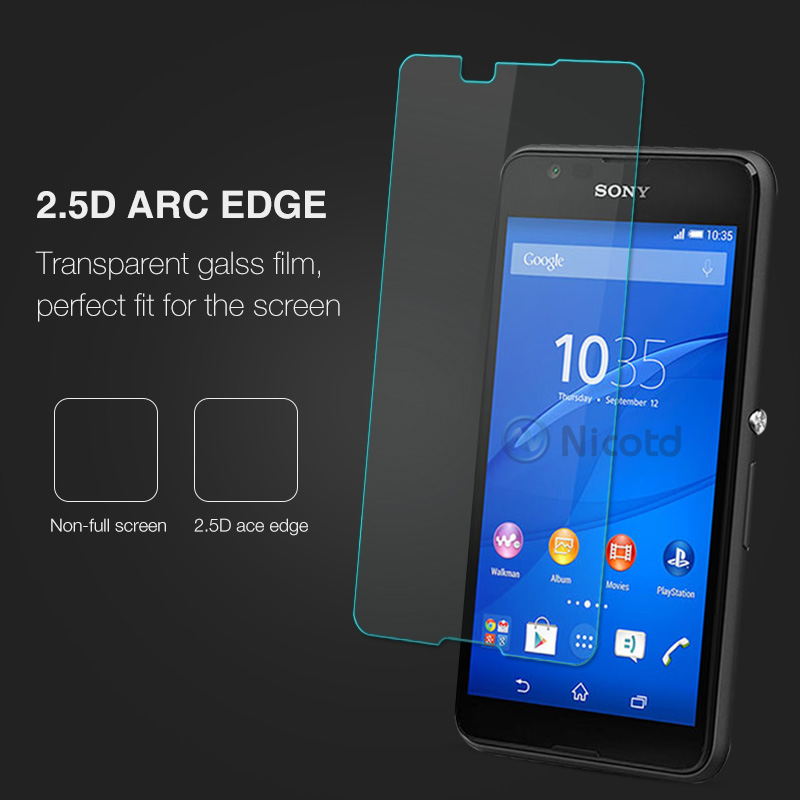0.26MM 9H Screen Protector Explosion-Proof On Phone Tempered Glass Film For Sony Xperia E4 E2105 E2114 E2115 E2124 dual 5.0 inch (3)