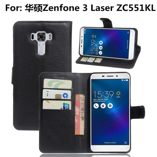Asus Zenfone 3 Laser ZC551KL Fall Z018d 55 PU Leder Wallet