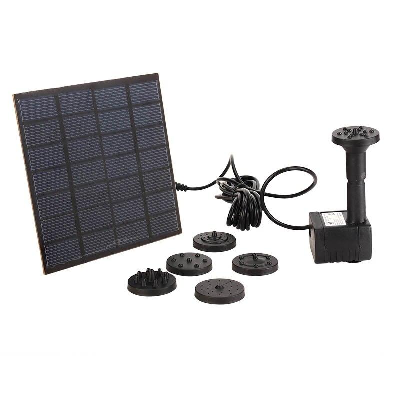 1,2 Watt Mini Solar Power Dc Bürstenlosen Eingetaucht Wasser Pumpe Garten Landschaft Brunnen Dekoration 100% Original