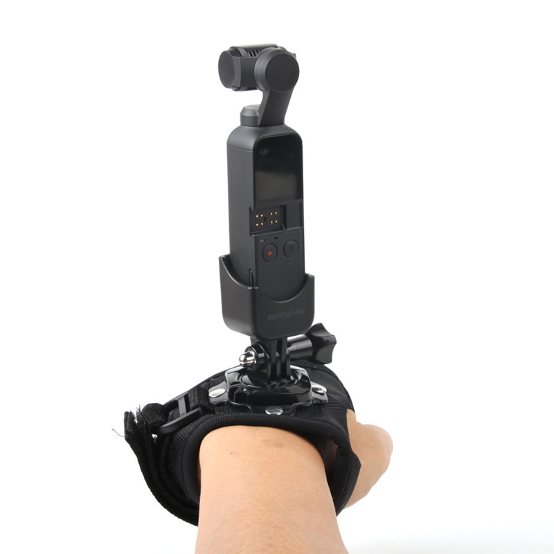 Wrist Band Belt Adapter Hand Strap Fixed Mount Adapter Holder for DJI Osmo Pocket Gimbal Camera Gimbal Accessories for GOPRO in Gimbal Accessories from Consumer Electronics