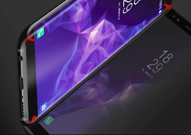 Artisome Tempered Glass For Samsung Galaxy S8 Glass 3D Curved Edge Glass Film For Samsung Galaxy S9 S8 Plus Screen Protector (8)