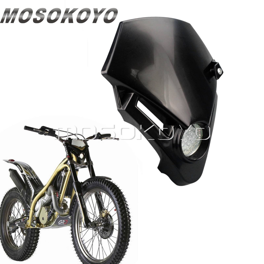 Motocross Mini Headlight LED Dirt Bike Supermoto Head Light Fairing For Gas Gas TXT Pro EXC 250 280