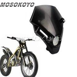 Motocross mała latarka czołowa LED motor terenowy Supermoto Head Light Fairing dla gazu gazowego TXT Pro EXC 250 280| |   -