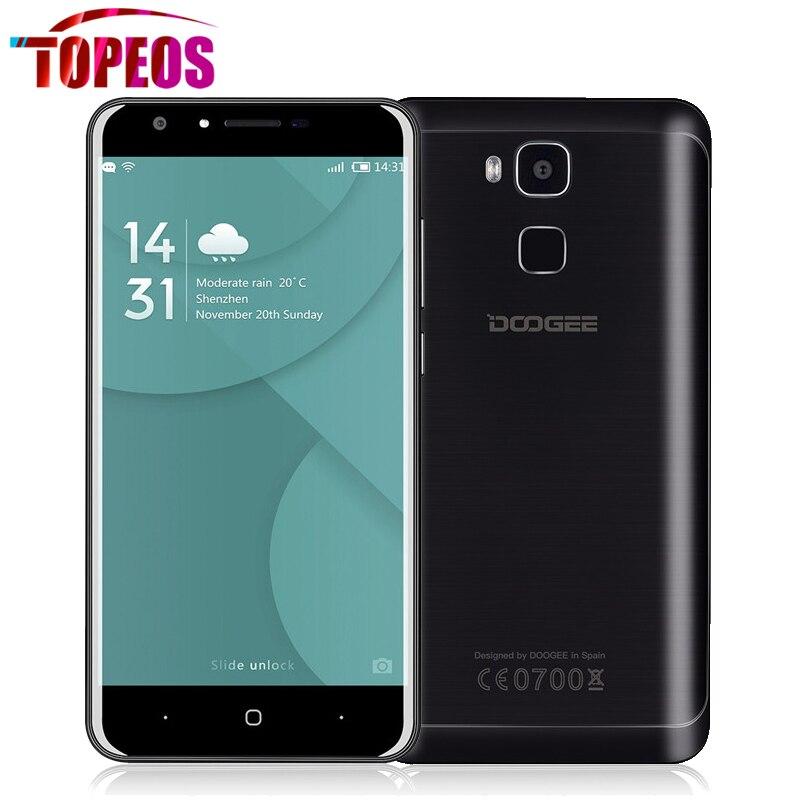 Цена за Оригинал Doogee Y6 5.5 Дюймов MTK6750 64 битный Окта Ядро Смартфон 13.0MP Отпечатков Пальцев HD 2 ГБ + 16 ГБ Android6.0 3200 мАч 4 Г LTE WCDMA