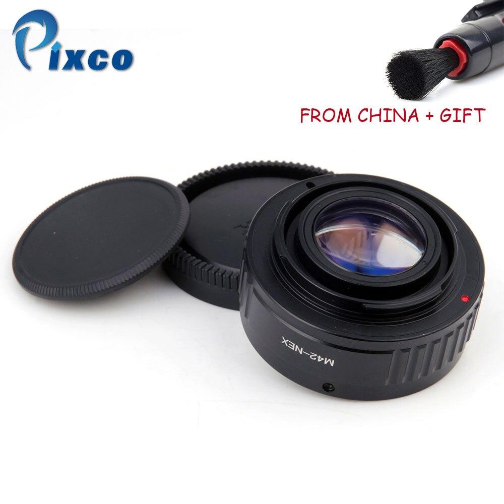 ADPLO M42-NEX Focal Réducteur Vitesse Booster, Costume pour M42 Lentille à Costume pour Sony Monture E NEX Caméra