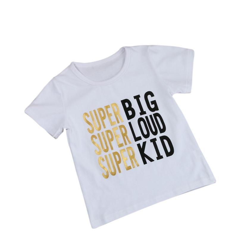Летние Футболки для мальчиков и девочек модная детская одежда для девочек с буквенным принтом Футболка Топы корректирующие для мальчиков; ...