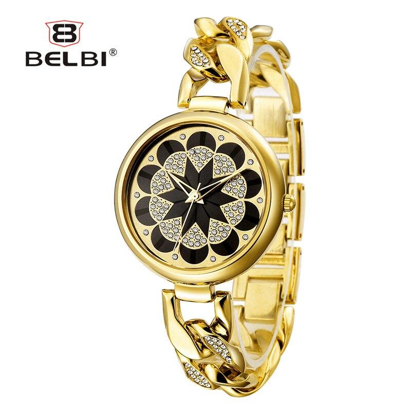 New Retro Women's Wristwatch Golden Diamond Black Sunflower Design For Ladies Watch Gemstone Luxury Jewelry Female Watches Brand карабин black diamond black diamond rocklock twistlock