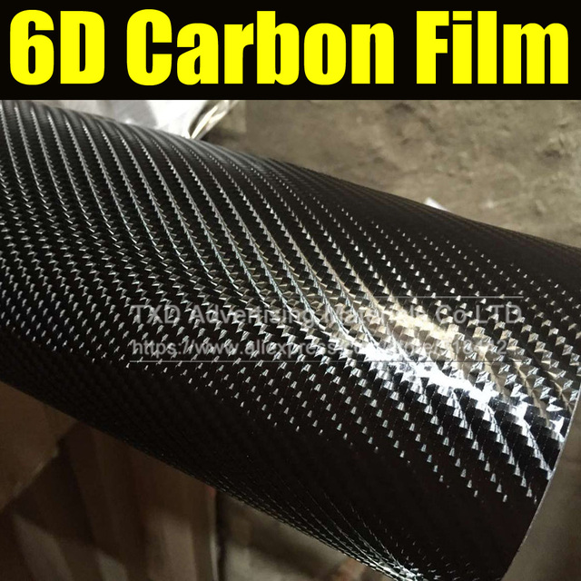 Free shipping 6D carbon fiber film with air free bubbles for car body  decoration with size 8873f7d83259