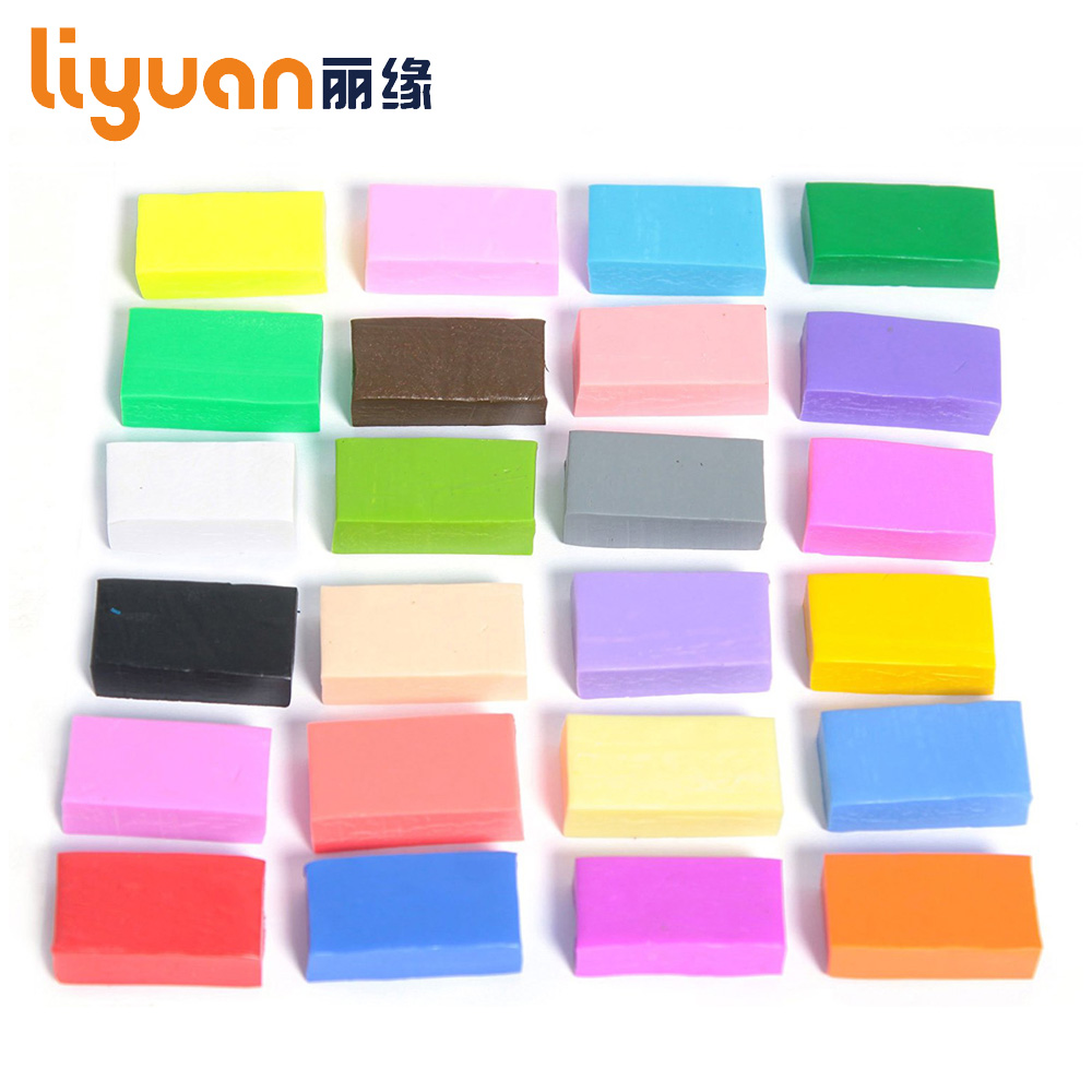 Liyuan 24 Colors DIY Craft Soft Polymer Modeling Clay Plasticine Block Educational Toy For Kids Fimo Polymer Clay Leker