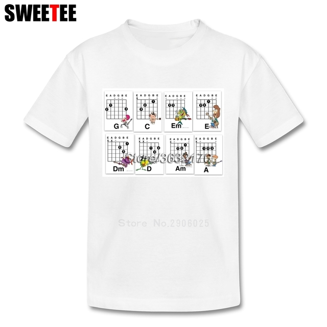 Guitar Chords T Shirt Baby Pure Cotton Short Sleeve Round Neck ...
