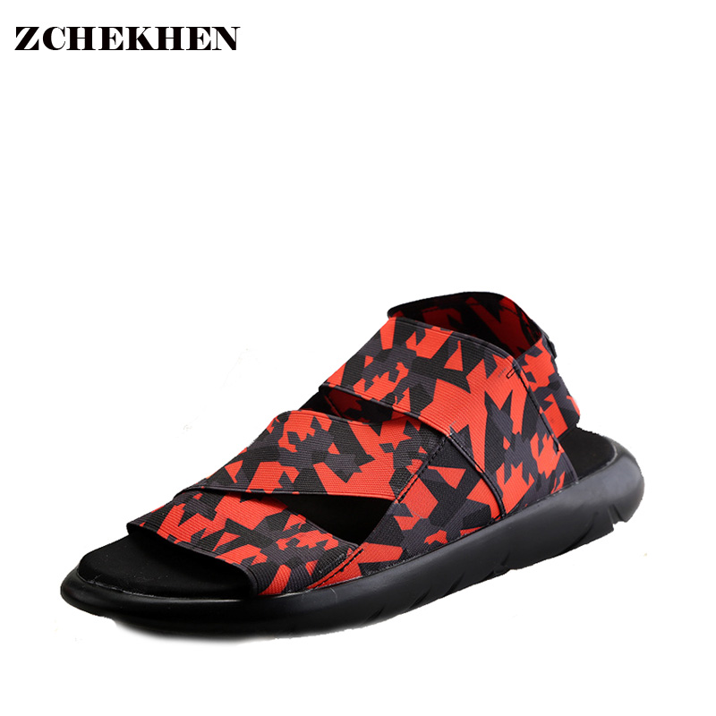 Fashion Youth Students Summer Rome Style Shoes Men Casual Elastic Strap Beach font b Sandals b